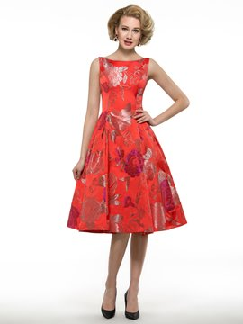Ericdress Beautiful Printed Knee Length Mother Of The Bride Dress