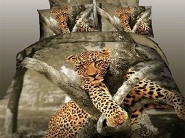 Ericdress Leopard Leaning on Tree Print Bedding Sets