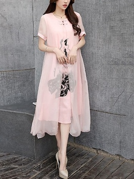 Ericdress Chinese Ethic Preppy Casual Dress