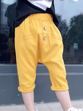 Ericdress Solid Color Boys Baggy Pants