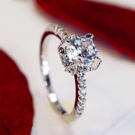 Simulation 1 Carat Diamond Wedding Ring