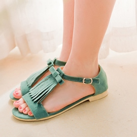 Ericdress Lovely Tassels Flat Sandals