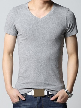 Ericdress Solid Color Simple Men's Muscle T-Shirt