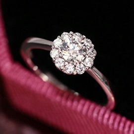 Snow Diamond Ring