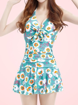 Ericdress Printed Halt Loveable Swimwear