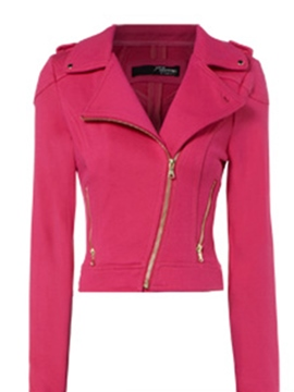 Ericdress Zipper Asymmetric Jacket