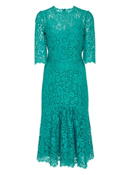 Ericdress Plain Half Sleeve Mermaid Lace Dress