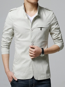 Ericdress British Style Plain Slim Thin Casual Men's Jacket