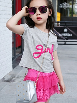 Ericdress Short Sleeve Girls Outfit