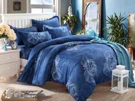Ericdress Blue Enchanting Floral Cotton Bedding Sets