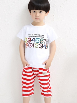 Ericdress Number Stripe Boys Outfit
