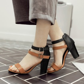 Ericdress Chic Contrast Color Chunky Sandals