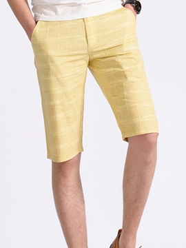 Ericdress Half Leg Linen Casual Men's Shorts