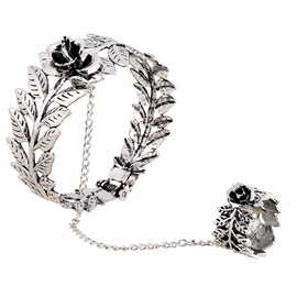 Fox / Owl / Flowers Finger Bracelet