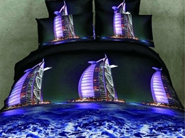 Ericdress Magnificent Dubai Sailing Boat Print 3D Bedding Sets