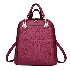 Eridress Leisure Vintage Embossed Backpack