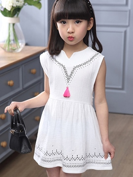 Ericdress Sleeveless Ethnic Girls Dress