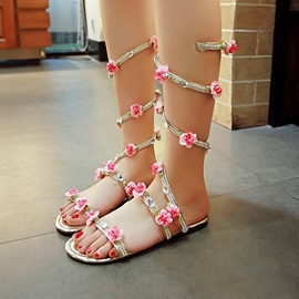 Ericdress Snake Shape Appliques Rhinestone Flat Sandals