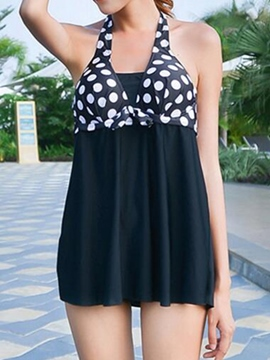Ericdress Color Block Polka Dots Three-Piece of Halt Swiwmear