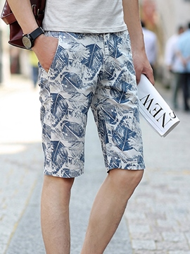 Ericdress Floral Printed Casual Men's Shorts
