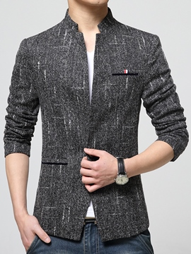 Ericdress Vogue Stand Collar Slim Elegant Men's Blazer
