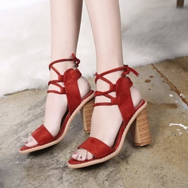 Ericdress Sexy Cross Strap Chunky Sandals