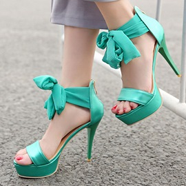 Ericdress Lace-Up Platform Open Toe Stiletto Sandals