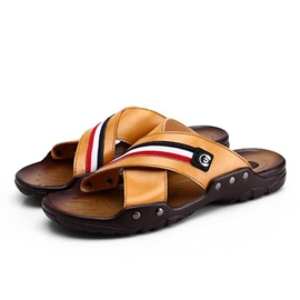Ericdress Open Toe Cross Band Slip-On Men's Sandals