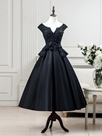 Ericdress A-Line V-Neck Cap Sleeves Beading Lace Tea-Length Evening Dress