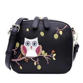 Ericdress Casual Owl Embroidery Crossbody Bag