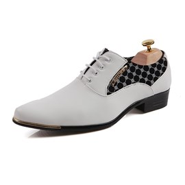 Ericdress Office Patchwork Point Toe Men's Oxfords