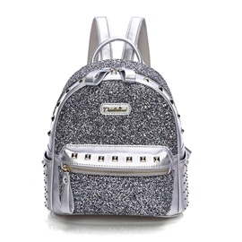 Ericdress Cool Solid Color Sequins Backpack