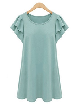 Ericdress Loose Frill Plus Size T-Shirt