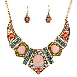 Bohemia Geometric Color Resin Jewelry Set