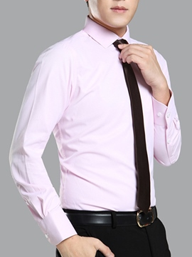 Ericdress Plain Long Sleeve Formal Slim Men's Shirt