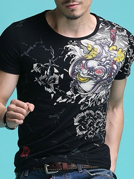 Ericdress Short Sleeve Print Quality Men's T-Shirt