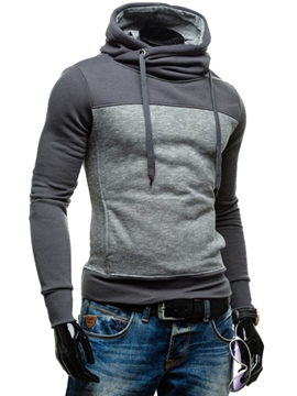 Ericdress Unique Patchwork Pullover Slim Men's Hoodie