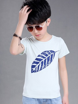 Ericdress Plant Print Short Sleeve Boys T-Shirt