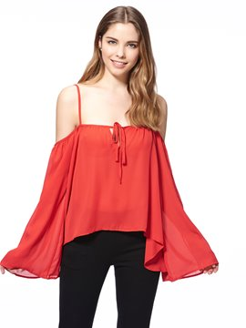 Ericdress Batwing Off-Shoulder Blouse