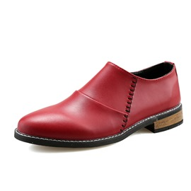 Ericdress Pointed Toe Slip-On Square Low Heel Men's Oxfords