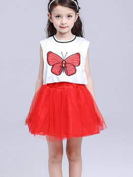 Ericdress Animal Patchwork Girls Dress