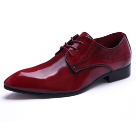Ericdress Pointed Toe Square Low Heel Men's Oxfords