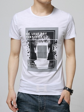 Ericdress Vogue Print Slim Men's T-Shirt