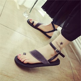 Ericdress Charming Toe Ring Flat Sandals