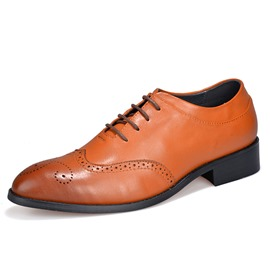 Ericdress Pointed Toe Square Low Heel Low-Cut Men's Oxfords