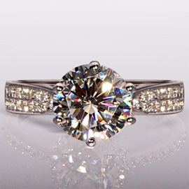 Simulation Diamond Alloy Ring