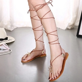 Ericdress New Roman Cross Strap Flat Sandals