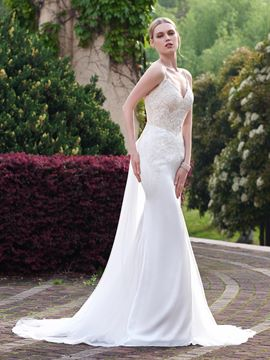 Ericdress Beautiful Spaghetti Straps Mermaid Wedding Dress