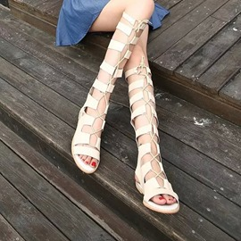 Ericdress Roman Cut Out Flat Sandals