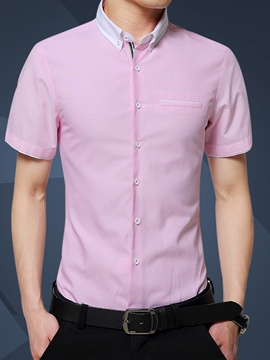 Ericdress Slim Short Sleeve Men's Shirt